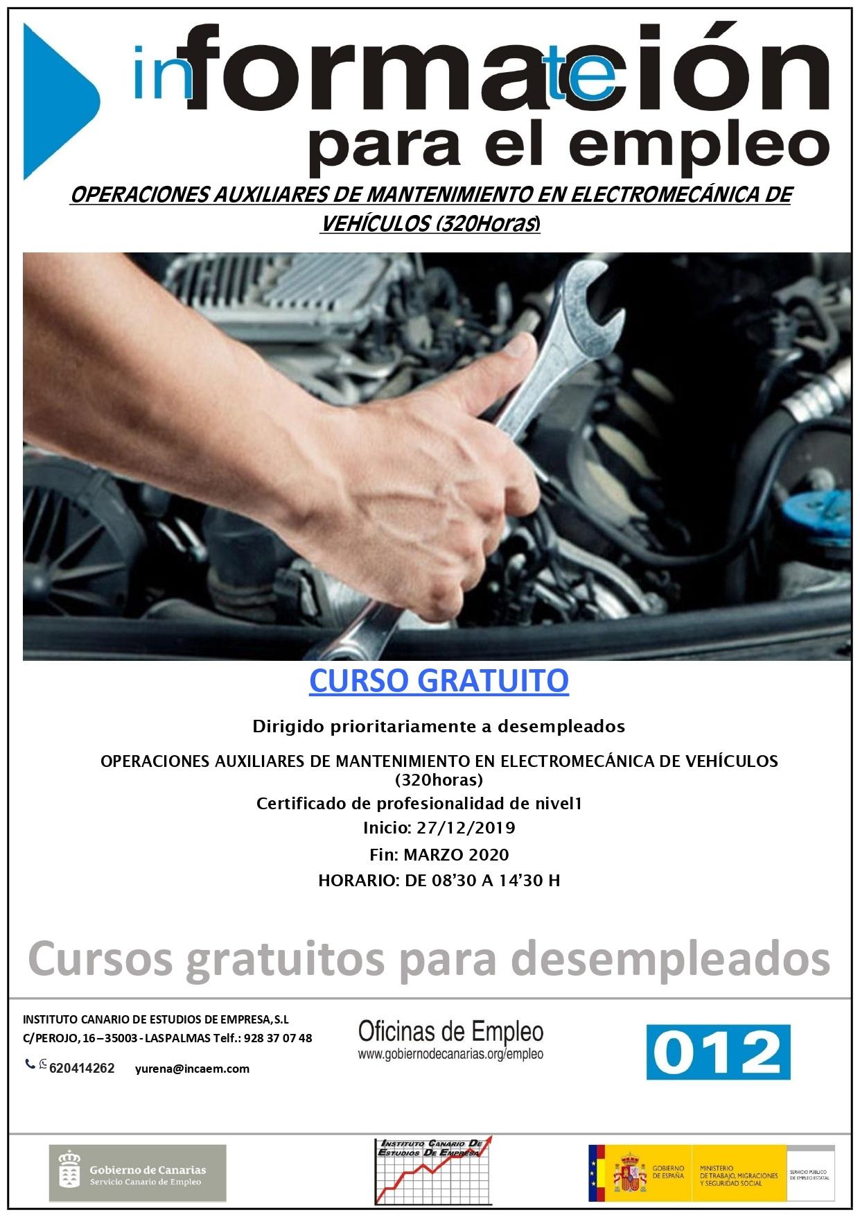 Operaciones Auxiliares de Mantenimiento en Electromecanica de Vehiculos